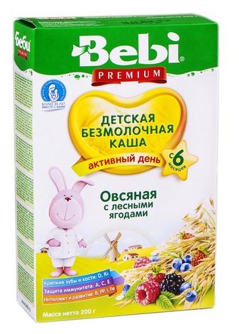 Bebi Premium Каша безмолочна вівсяна з лісовими ягодами з 6 місяців 200 г 1 коробка