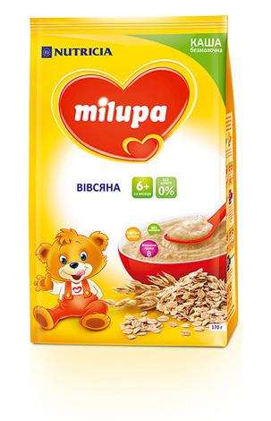 Milupa Каша безмолочна вівсяна без цукру з 6 місяців 170 г 1 пакет