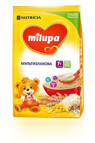 Milupa Каша безмолочна мультизлакова без цукру з 7 місяців 170 г 1 пакет