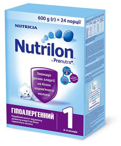 Nutrilon Гіпоалергенний 1 Суміш молочна 0-6 місяців 600 г 1 коробка