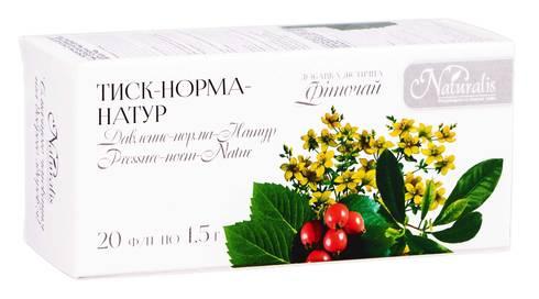 Naturalis Тиск-норма-Натур фіточай 1,5 г 20 фільтр-пакетів