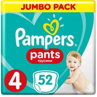 Pampers Pants 4 Підгузки-трусики дитячі 9-15 кг 52 шт