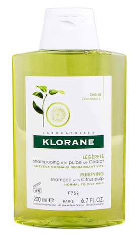 Klorane Шампунь очищувальний з м'якоттю цитрону для нормального та жирного волосся 200 мл 1 флакон