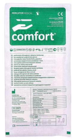 Comfort Рукавички латексні хірургічні припудрені стерильні розмір 7 1 пара