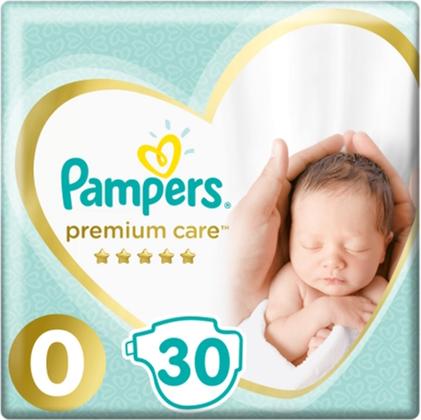 Pampers Premium Care 0 Підгузки дитячі до 3 кг 30 шт