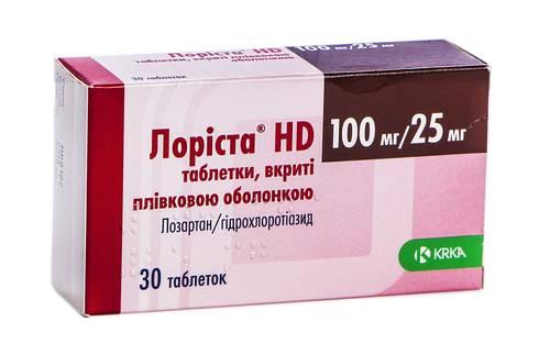 Лоріста НD таблетки 100 мг/25 мг  30 шт