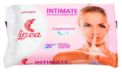 Linea Серветки вологі для інтимної гігієни з молочною кислотою та натуральним екстрактом ромашки 20 шт