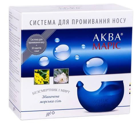 Аква Маріс Система для зрошення носа + морська сіль, збагачена травами 30 пакетів