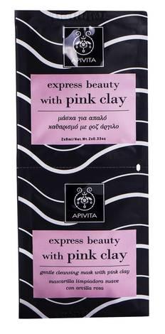 Apivita Cleansing Маска для делікатного очищення з рожевою глиною 2х8 мл 1 шт