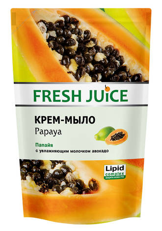 Fresh Juice Крем-мило рідке Папайя з зволожуючим молочком авокадо 460 мл 1 пакет