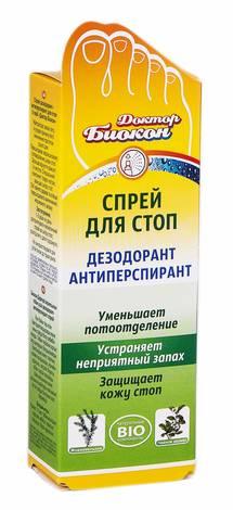 Доктор Біокон Спрей для стоп дезодорант-антиперспирант 80 мл 1 флакон