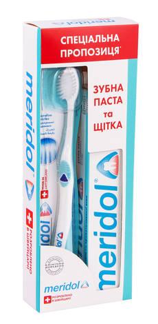 Meridol зубна паста 75 мл + зубна щітка м'яка 1 набір