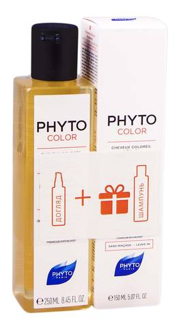 Phyto Color засіб активатор блиску 150 мл + шампунь для захисту кольору 250 мл 1 набір