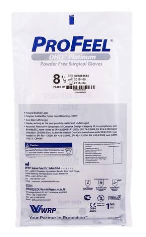 ProFeel DHD Platinum Рукавички хірургічні латексні стерильні неприпудрені розмір 8,5 1 пара