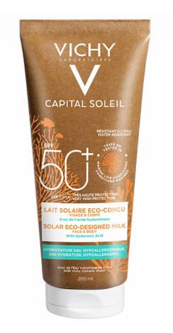 Vichy Capital Soleil Молочко сонцезахисне зволожуюче для  шкіри обличчя і тіла SPF 50+ 200 мл 1 туба