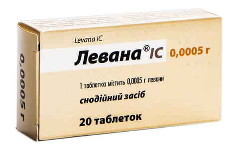 Левана IC таблетки 0,5 мг 20 шт