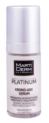 MartiDerm Platinum Кроно-Ейдж сироватка відновлює та збільшує щільність для всіх типів шкіри 30 мл 1 флакон