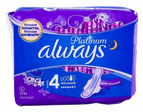 Always Platinum Ultra Night Прокладки гігієнічні 6 шт