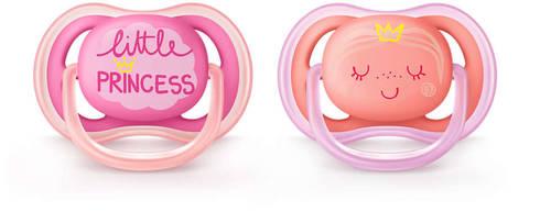 Avent Philips Ultra Air Пустушка декорована для дівчаток 6-18 місяців SCF343/22 2 шт