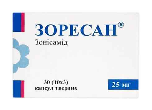 Зоресан капсули 25 мг 30 шт