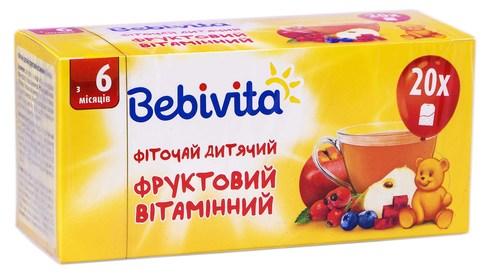Bebivita Фіточай дитячий фруктовий вітамінний з 6 місяців 1,5 г 20 шт