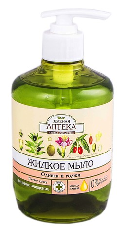 Зелена Аптека Мило рідке оливка та годжі 460 мл 1 флакон