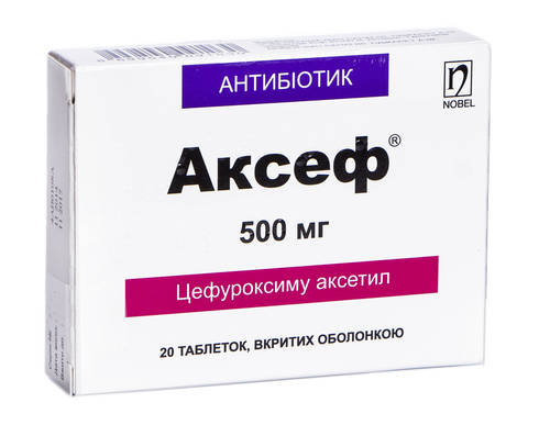 Аксеф таблетки 500 мг 20 шт