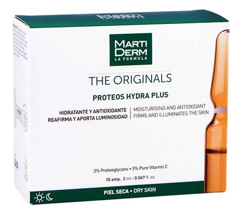 MartiDerm The Originals Протеос Гідра Плюс ампули зволоження та антиоксидантна дія для сухої шкіри 2 мл 10 ампул