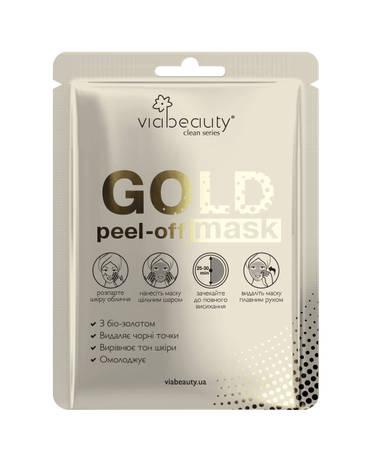 Via Beauty Маска-плівка для обличчя Голд з біо-золотом 1 шт