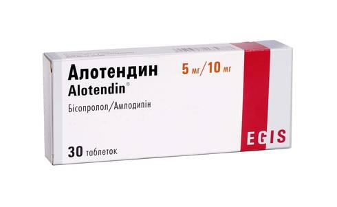 Алотендин таблетки 5 мг/10 мг  30 шт