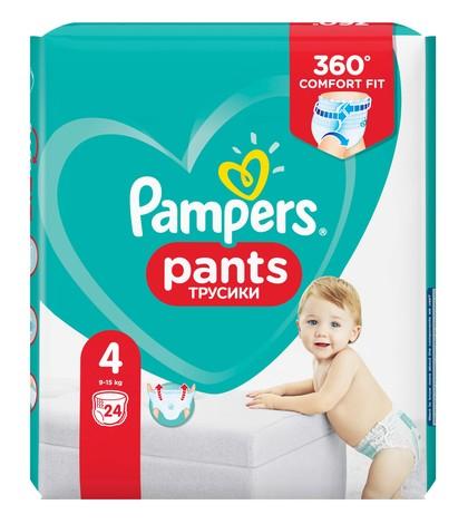 Pampers Pants 4 Підгузки-трусики дитячі 9-15 кг 24 шт