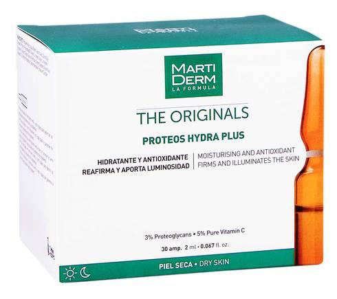 MartiDerm The Originals Протеос Гідра Плюс ампули зволоження та антиоксидантна дія для сухої шкіри 2 мл 30 ампул