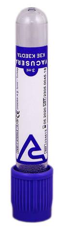 Волес Пробірка вакуумна для забору крові Вакусера з К3 ЕДТА 3 мл 234613 13х75 мм фіолетовий 1 шт