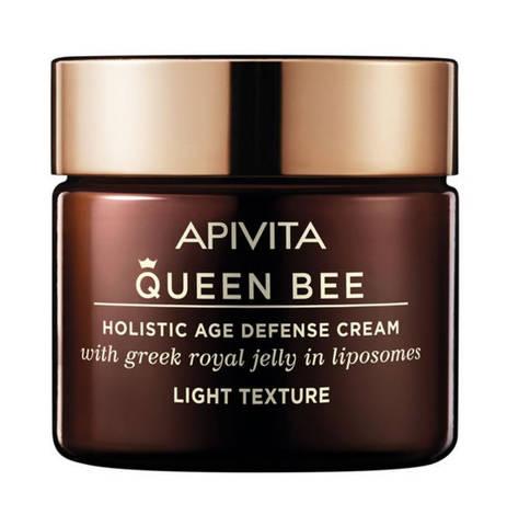 Apivita Queen Bee Крем для комплексного захисту від старіння легка текстура  з грецьким маточним молочком у ліпосомах 50 мл 1 банка