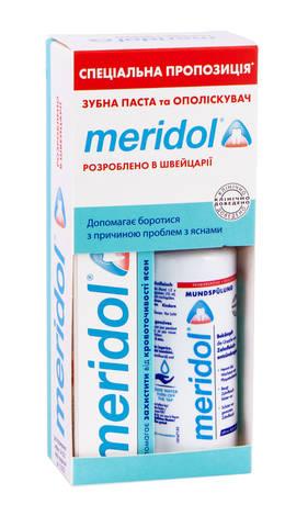 Meridol Зубна паста 75 мл + Ополіскувач 100 мл 1 набір