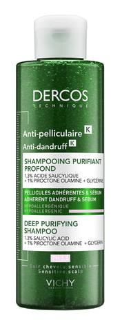 Vichy Dercos Шампунь-скраб для глибокого очищення шкіри голови проти стійкої лупи 200 мл 1 туба