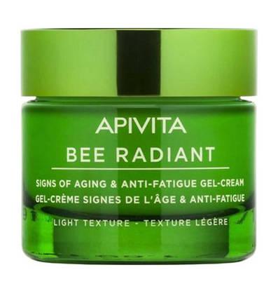 Apivita Bee Radiant Гель-крем легкої текстури для захисту від ознак старіння та слідів втоми 50 мл 1 флакон