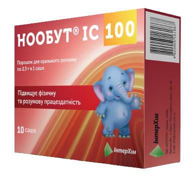 Нообут ІС 100 порошок для орального розчину 100 мг/дозу 10 саше