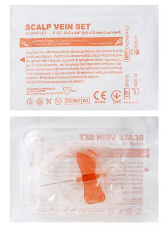 Igar Катетер для ін'єкцій типу метелик 25G помаранчевий 1 шт
