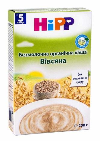 HiPP Каша безмолочна органічна Вівсяна з 5 місяців 200 г 1 коробка