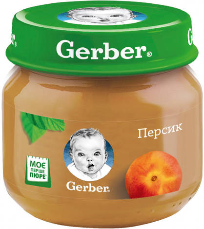 Gerber Пюре Персик з 6 місяців 80 г 1 банка