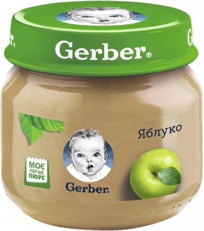 Gerber Пюре Яблуко від 6 місяців 80 г 1 банка