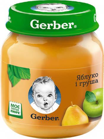 Gerber Пюре Яблуко і груша з 6 місяців 130 г 1 банка