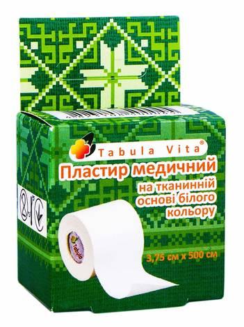 Tabula Vita Пластир медичний на тканинній основі білого кольору 3,75х500 см 1 шт