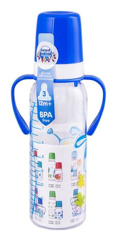 Canpol Babies Пляшечка з малюнком і ручками пластикова від 12 місяців 11/845 250 мл 1 шт