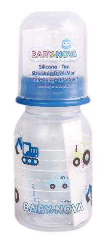 Baby-Nova Пляшечка пластикова декорована одноколірна 125 мл 1 шт