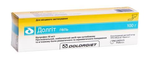 Долгіт гель 50 мг/г 100 г 1 туба