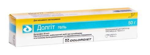 Долгіт гель 50 мг/г 50 г 1 туба