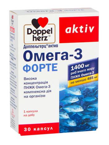 Doppel herz aktiv Омега-3 Форте капсули 1400 мг 30 шт