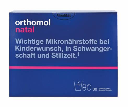 Orthomol Natal гранули + капсули + пробіотик 30 днів 1 комплект